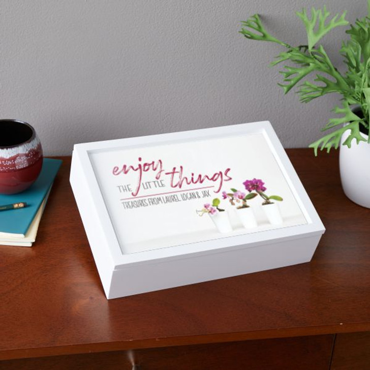 Personalized keepsake box for mom or grandma to keep the little's treasures in