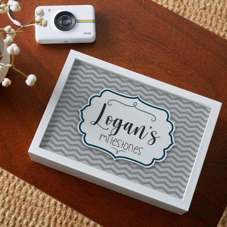 Personalized keepsake box for baby boy