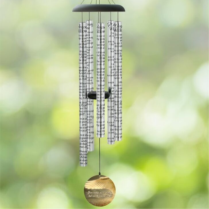 Your wings were ready personalized memorial wind chime