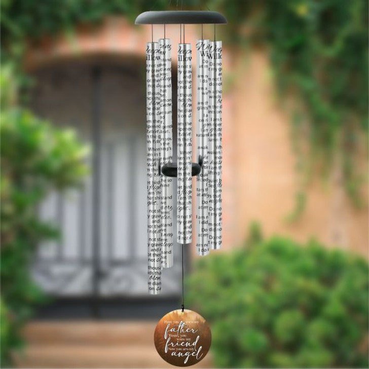 """My Father, My Angel memorial wind chime - 44"""""""