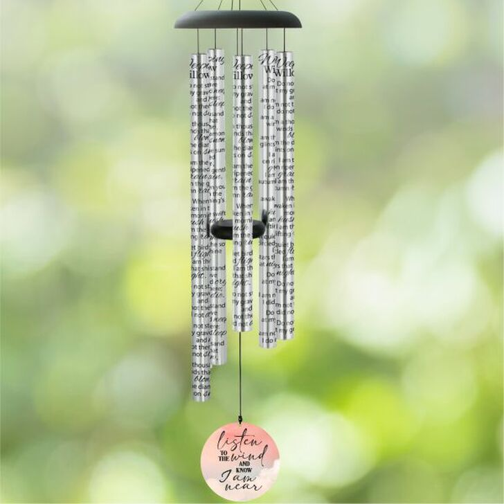 Listen to the wind and know I am near memorial wind chime