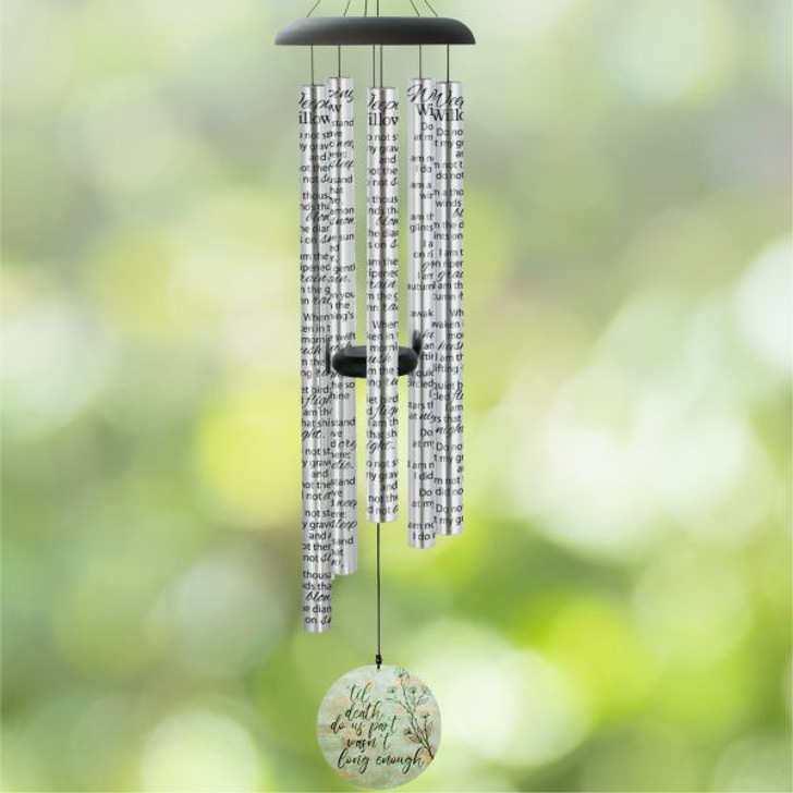 Memorial wind chime for the loss of a spouse.