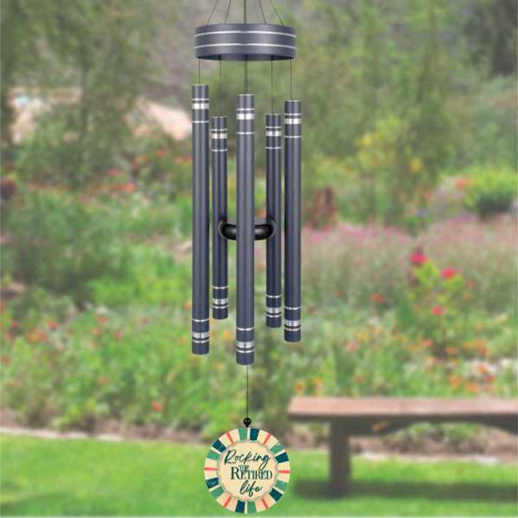 Personalized retirement wind chime