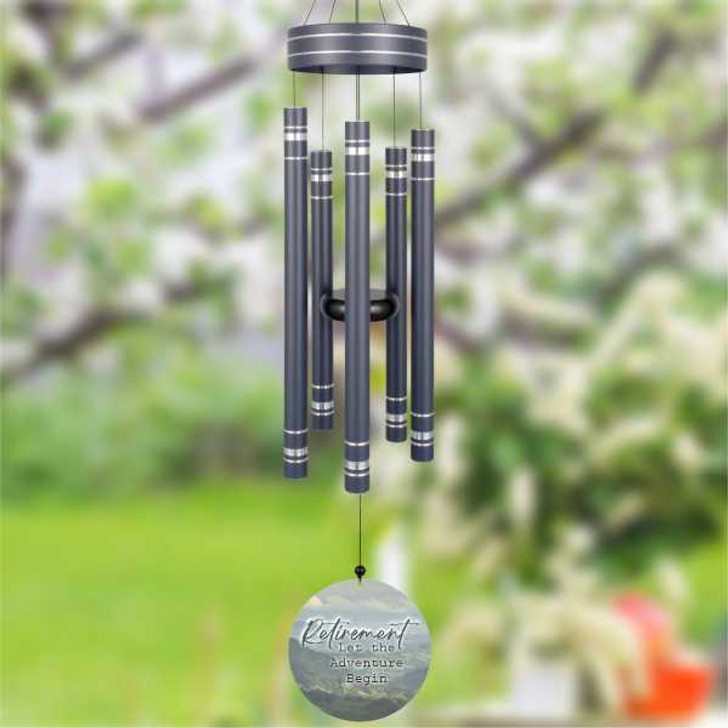 Personalized retirement wind chimes