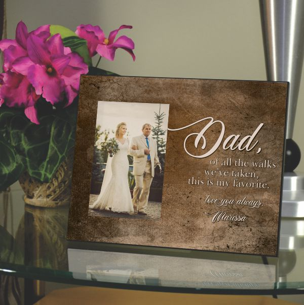 Custom Picture Frame-Dad Walking Bride Down Aisle-Gift 7x12 Wedding Gift Dad-Personalized Wedding Gift Father of the Bride