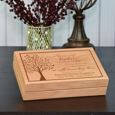 Memorial Gift For Loss Of Brother Keepsake Memory Box