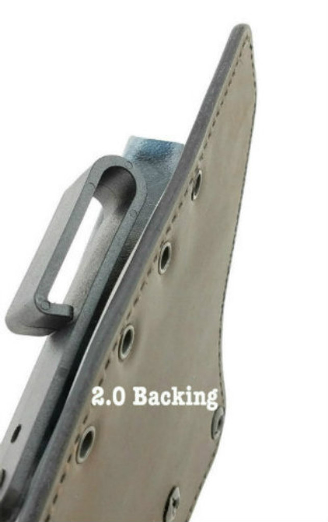 Precisions Ultra Carry Holster in the 2.0 Leather Backing Angled