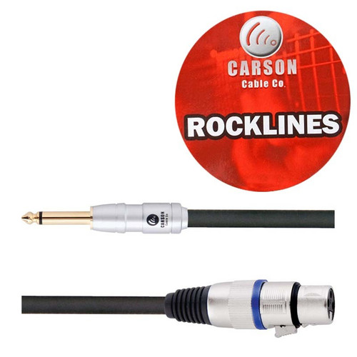 Carson Rocklines 20ft/6m XLR to Jack