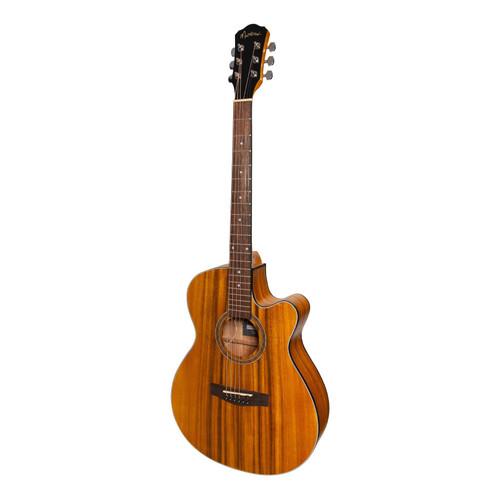 Martinez '41 Series' Folk Size Cutaway Acoustic-Electric Guitar (Koa)