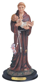 12 Inch Saint Anthony Holy Figurine Religious Decoration Statue Decor