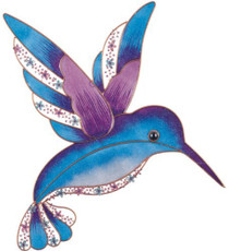 Wall Decorations Copper and Gem Hummingbird Decoration Collectible