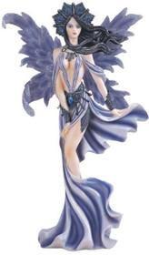 Fairy Collection Blue Mysterious Pixie Desk Decoration Figurine Collectible Decor