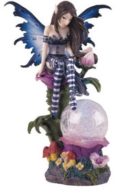 Fairy Collection Crystal Ball LED Light Figure Decoration Statue