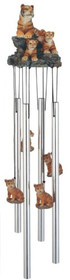 Wind Chime Round Top Bengal Tiger Hanging Garden Decoration Windchime