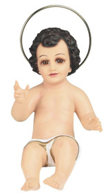 12 Inch Baby Jesus With Glass Eyes - Holy Religious Figurine Decoration
