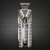 Suspenders Elastic - White Piano