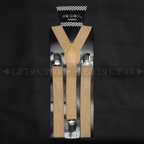 Suspenders Elastic - Shiny Gold