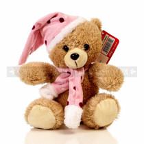 "9"" Gibby Bear With Hat & Scarf Soft Plush Toy Stuffed Animal  - Purple - Image 1"