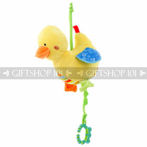 "9"" Cute Duck Baby Pull String Musical Plush - Blue - Image 1"