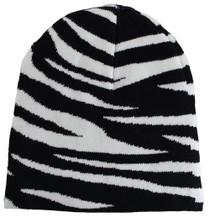 Winter Beanie - Zebra