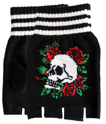 Fingerless Gloves - Let's Tango Skull