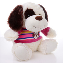 "11"" Max Dog Plush with Shirt - Pink (Side)"
