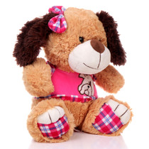 "11"" Amelia Dog with Shirt - Pink (Side)"