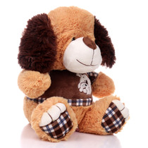 "11"" Amelia Dog with Shirt - Brown (Side)"