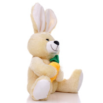 "10"" Bunny with Carrot - Yellow (Side)"