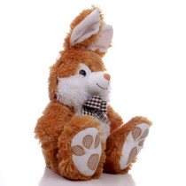 "10"" Footsie Bunny with Ribbon - Brown (Side)"