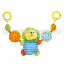 "10"" BABY STROLLER TOY LION ANIMAL WITH RATTLE"