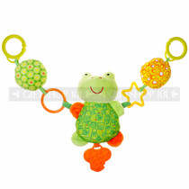 "22"" CUTE ANIMAL FROG BABY STOLLER AND CARSEAT TOY"