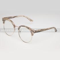 Clubmaster Round  Shape Designer Clear Lens Glasses 89012CLR - White