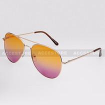 Aviator Shape Summer Ocean Color Sunglasses 52015MHC - Orange Purple