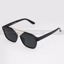 Clubmaster  Shape Retro Designer Sunglasses 96004 - Black Gold