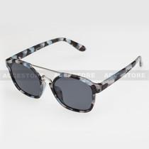 Clubmaster  Shape Retro Designer Sunglasses 96004 - Marble Silver