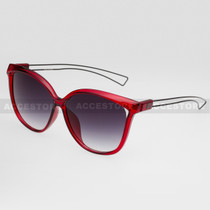 Cat Eye  Shape Fashion Wire Arm Sunglasses 89026 - Red