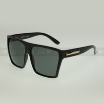 Square Shape Oversize Retro Fashion Sunglasses 80331 - Black Gold