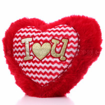 "14"" Red Heart Valentine Pillow - Front"