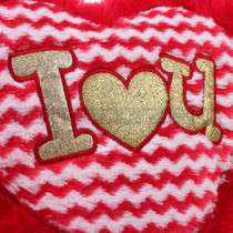 "14"" Red Heart Valentine Pillow - Detail"