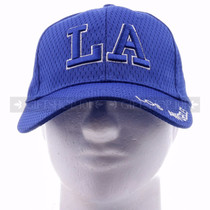 Breathable Baseball Caps Hat 9630 Blue - Los Angeles <Front>