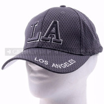 Breathable Baseball Caps Hat 9630 Gray - Los Angeles