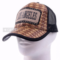 Mesh Back Baseball Caps Hat 10016 Black - Los Angeles