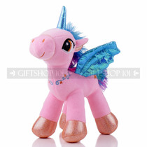 "8"" Pink Magical Flying Unicorn Plush - Left"
