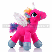"8"" Hot Pink Magical Flying Unicorn Plush - Right"