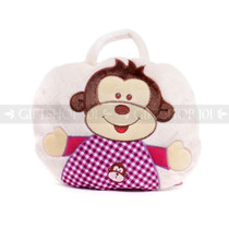 "9"" Baby 2-in-1 Travel Blanket and Pillow - Monkey"