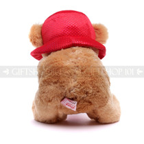 "13.5"" Brown Teddy Bear with Love Bag & Hat"