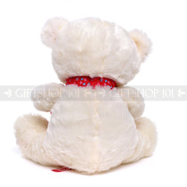 "12"" Appreciation Teddy Bear with Red Heart- White (Back)"