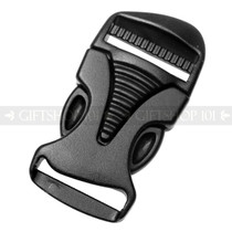Side Release Buckles Durable w/ Single Adjust - Plastic - 1 inch - Black (10PCS)