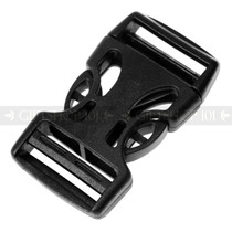 Tough Black Light Weight Side Release Clip Buckle (10PCS)